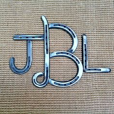 Horseshoes sign MONOGRAM 3 LETTERS iron by BlacksmithCreations, $125.00