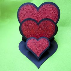Triple Heart Easel Card these are fun to make
