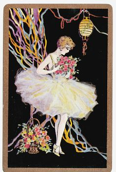 Playing Cards Swap Cards Stunning Vintage Lady Dancer Deco Excellent Condition | eBay