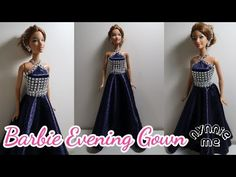 DIY How to make Evening Gown for Barbie Barbie Et Ken, Barbie Barbie, Barbie Gowns, Barbie Dream, Barbie Wedding Dress, Diy Wedding Dress, Wedding Dress Patterns, Diy Dress, Sewing Barbie Clothes