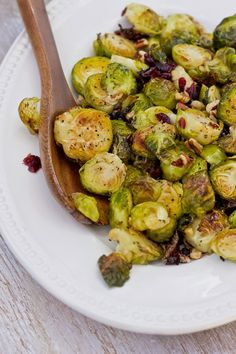 ... and Zest: Roasted Brussels Sprouts with Cranberries and Toasted Pecans