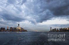 Title:  Darks Clouds Over Manhattan  Artist:  Shishir Sathe  Medium:  Photograph