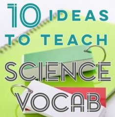 Science Vocabulary Solutions 10 Ideas to help students with science vocabulary Science Vocabulary, Science Curriculum, Science Resources, Science Lessons, Science Education, Teaching Science, Life Science, Learn Science, Science Room