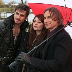 Colin, Emilie & Robert on set.
