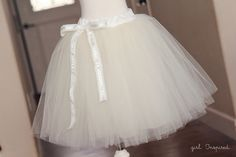 Every girl wants to take a spin in a tutu at least once in their life. Learn how to make a tutu for twirling or lifting the skirt of a fancy dress. For Addison Diy Tutu, Diy Tulle Skirt, Tulle Skirt Tutorial, Tulle Dress, Dress Up, Tutu Skirts, Mini Skirts, Diy Clothing, Sewing Clothes