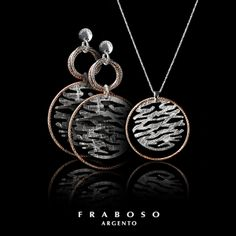 Fraboso #silver #earrings and #necklace