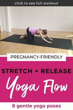 Discover how this pregnancy-friendly yoga will help stretch and release your tight muscles. It's the perfect yoga sequence to relieve joint pain and the aches of pregnancy. Grab this free yoga workout here! Pregnancy First, Pregnancy Early Pregnancy Workout Videos, Prenatal Workout, Prenatal Yoga, Restorative Yoga, Pregnancy Stretching, Pregnancy Pilates, Yoga Workouts, Exercises, Pregnancy Signs