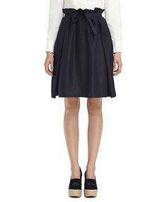 Black Fleece for Brooks Brothers - Navy Wrap Skirt  #madeinNYC #madeinUSA