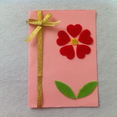 DIY Mother's Day Card Diy Mothers Day Gifts, Mothers Day Cards, Arts And Crafts, Paper Crafts, Art Crafts, Mother Card, Mother's Day Diy, Art Activities, Diy Cards
