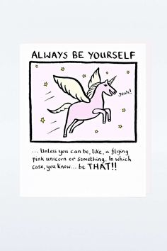 Carte « Always Be Yourself »