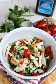 ullatrulla backt und bastelt: Obst im Salat macht glücklich   Rezept für Feldsalat mit Pfirsichen