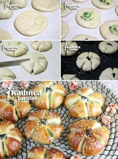 Potato Flower Pastry Recipe: - Top Of The World Donut Recipes, Pastry Recipes, Bread Recipes, Dessert Recipes, Cooking Recipes, Bread Bun, Bread Cake, Bread Shaping, Food Garnishes