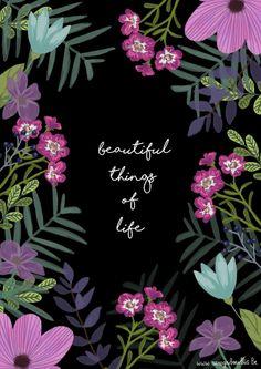 beautiful things of life - print  www.carogribouillis.be Caroline Maerten