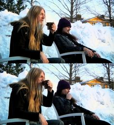 Maybe a sip of coffee when there's -20 degrees outside? Not a problem in Finland!