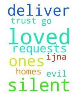 God, I ask silent requests. Deliver me, loved ones, - God, I ask silent requests. Deliver me, loved ones, homes amp; where we go from evil. Thank You amp; for trust, IJNA. Posted at: https://prayerrequest.com/t/Nxg #pray #prayer #request #prayerrequest