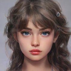 Digital Art Girl, Digital Portrait, Portrait Art, Portrait Photography, Character Portraits, Character Art, 3 4 Face, Cartoon Art Styles, Fantasy Girl