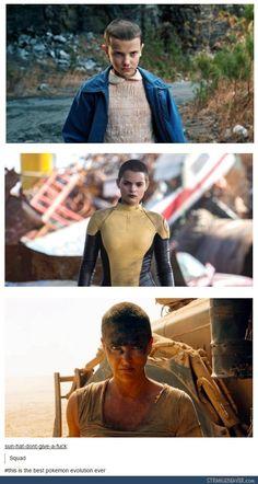 Stranger Things, Deadpool, Mad Max