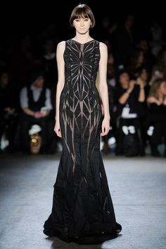Christian Siriano - Vaguely reminds me of Schiaparelli's famous skeleton dress.
