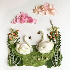 Bridget Beth Collins, Floral Forager, Family of Swans Arte Floral, Deco Floral, Flower Rangoli, Pressed Flower Art, Nature Crafts, Flower Frame, Flower Petals, Flower Crafts, Dried Flowers
