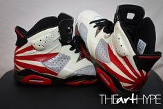 """Jordan 6 """"Shogun"""" Custom. These go H.A.M."""