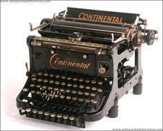 Antigua máquina de escribir Continental. 1917
