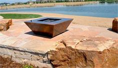Parallax contemporary gas fire pit