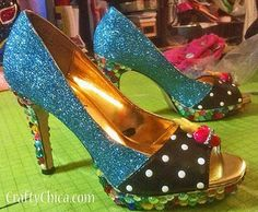 never thought about embellishing my shoes!