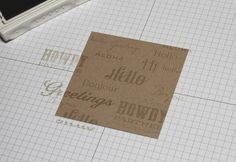 I love this Technique for stamping sentiments on a background. I've been doing this for a few years now, it looks really cool to have the words going all different directions