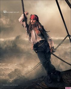 Johnny Depp as Captain Jack Sparrow for 'Disney Dream Portraits' ~ Photo by Annie Leibovitz