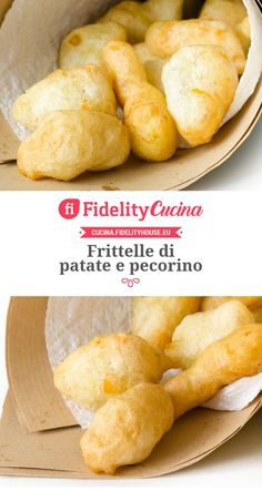 Frittelle di patate e pecorino Potato Dishes, Antipasto, High Tea, Crepes, Buffet, Brunch, Appetizers, Food And Drink, Bread