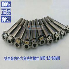 Rockbros M10 Titanium Hex Head Cap Flange Bolt 1.5 Mm Thread Pitch Bolt 1 Pcs Screws & Bolts