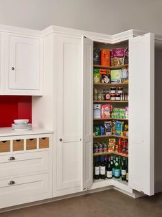 Kitchen Floor Plan with Corner Pantry. Kitchen Floor Plan with Corner Pantry. Corner Pantry Made Of to Look Like Cabinets Yes Kitchen Pantry Design, Kitchen Pantry Cabinets, Modern Kitchen Cabinets, Diy Kitchen Storage, Home Decor Kitchen, Home Kitchens, Kitchen Ideas, Pantry Storage, Storage Cabinets