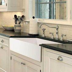 """Houzer 36"""" Fireclay Single Bowl Farmhouse Kitchen Sink, White, Platus Series, PTG-3600 WH - The Sink Boutique"""