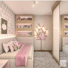 A purple bedroom does look elegant, especially if combined with a gray color. - A purple bedroom does look elegant, especially if combined with a gray color. Purple Bedrooms, Teen Girl Bedrooms, 6 Year Old Girl Bedroom, Dream Rooms, Dream Bedroom, Master Bedroom, Baby Bedroom, Girl Bedroom Designs, Bedroom Paint Colors