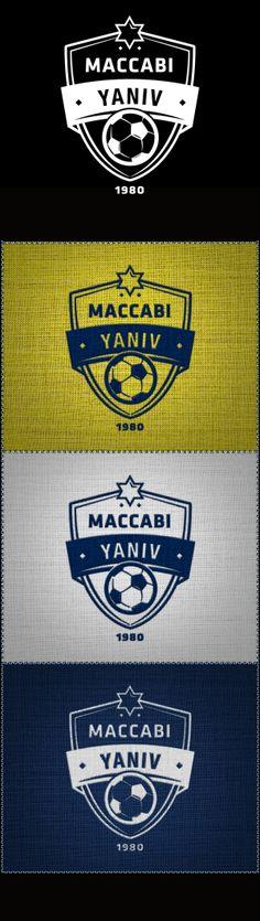 Branding for the Maccabi Yaniv Football Club.PART I : Visual Identity (Team shield & jersey) Badge Icon, Fa Cup, Juventus Logo, Visual Identity, Team Logo, Branding, Football, Bap, Club