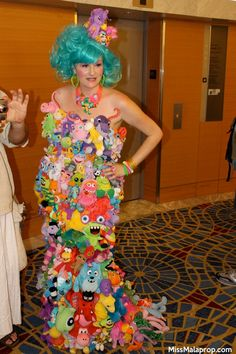 Epic stuffed animal dress!