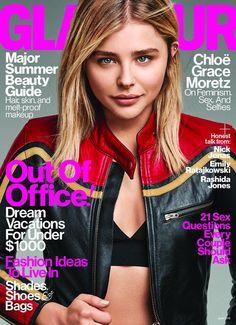 Chloe Moretz in Chloe Fall 2016 on the June 2016 Cover of Glamour Magazine