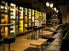A concierge will show you to your table and present you with a key with which to gain access to your own private bar. EXCELLENT
