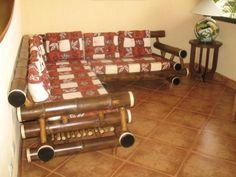 bamboo corner sofa furniture for trendy living room interior design ideas Bamboo Roof, Bamboo Art, Bamboo Crafts, Bamboo Furniture, Sofa Furniture, Living Room Furniture, Furniture Projects, Living Room Interior, Interior Design Living Room