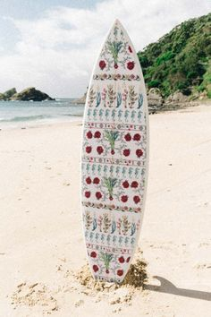 flower print surfboard by nusa indah