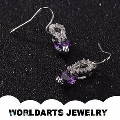 Hot Sell Aolly Purple Zircon Gold Plated Wedding Drop Earrings, View drop earrings, Worldarts jewelry Product Details from Dongguan Worldarts Jewellery Manufactory on Alibaba.com