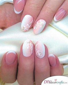 In order to provide some inspirations for your winter nail art designs, we have specially collected 72 winter nails red colors for your short nail designs. I hope you can find a satisfactory style from them. Cute Nails, Pretty Nails, Heavenly Nails, Uñas Fashion, Vintage Nails, French Nail Art, Wedding Nails Design, Bride Nails, Short Nails Art
