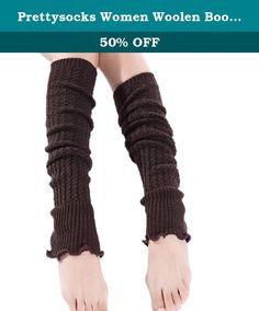Prettysocks Women Woolen Boots Cover Knitted Footwear Socks Long Leg Warmers Brown. wash by hand and Dry clean Package include:1 pair x leg warmer It is very warm and the design is keep up with the fashion. Due to the different monitor and light effect, the actual color of the item might be slightly different from the color showed on the pictures, Please don't mind.