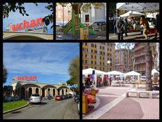 I punti di ritrovo per gli abitanti del quartiere sono L'Auchan e la piazzetta, che vengono qui mostrati nelle foto