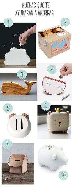 8 huchas rebonitas que te ayudarán a ahorrar. #piggybank #moneybox #muymolon #