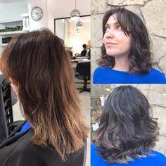 ✨Cambio de imagen logrando un look moderno✨ 💃❤ #cortedepelo #haircut #colorecológico #ecoplex #cambiosdelook #peluqueria #begoodi #barcelona