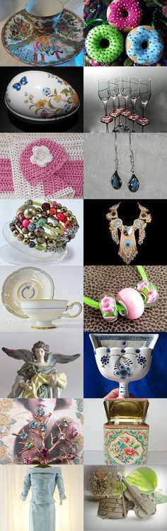 Gifts in Color - TeamVintageUSA by Whimsy at WhimsicalEverAfter on Etsy--Pinned with TreasuryPin.com