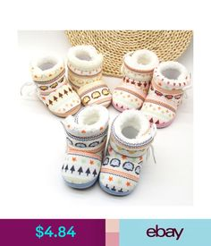 Baby Shoes Baby Kid Boy Girl Winter Warm Snow Boots Infant Toddler Soft Slipper Cribshoes #ebay #Home & Garden