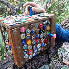 Are you thirsty for a geocache? The best happy hour is poppin' bottle caps looking for this log to sign in Myakka River State Park (just don't actually pull them off). This puzzle cache used recycled CITO materials to hide the logbook. Escape Puzzle, Myakka River State Park, Geocaching Containers, Wood Router, Wood Lathe, Cnc Router, Secret Hiding Places, Best Happy Hour, Small Space Interior Design