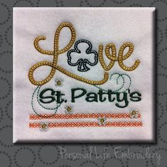 LOVE Series St Patty's Day Patrick Clover Irish Shamrock Flowers Celtic Machine Embroidery Design Digital Pattern INSTANT DOWNLOAD Boy Girl by PersonalLife on Etsy